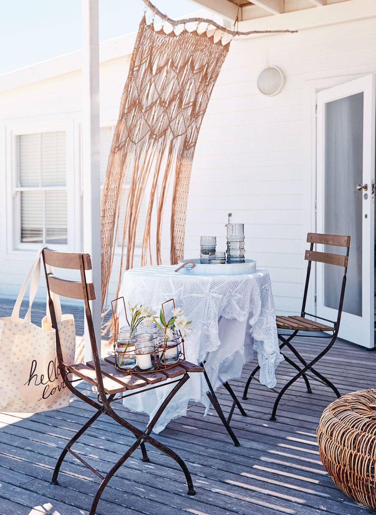 Vorhang, Fransen, Handarbeit, Baumwolle (Impressionen)