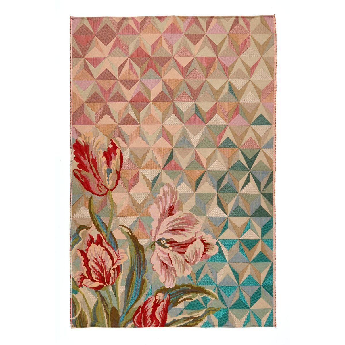 Teppich, Blumenornamente, Dreiecksformen, mit 3D Effekt (Impressionen)
