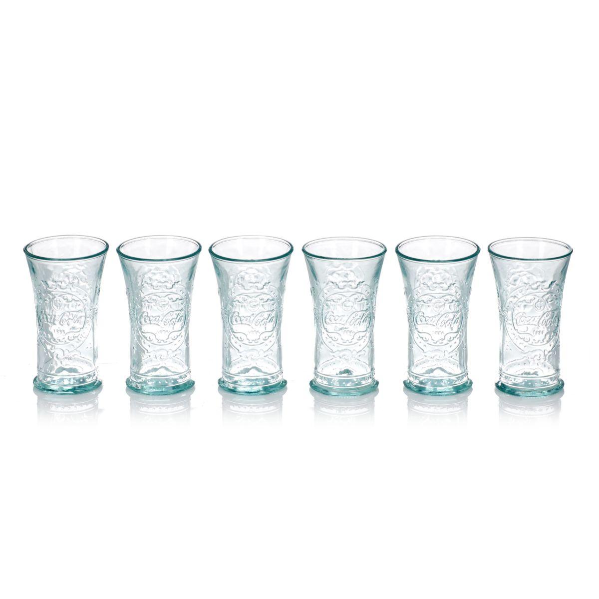 Glas-Set, 6-tlg., gemustert, Recyclingglas (Impressionen)