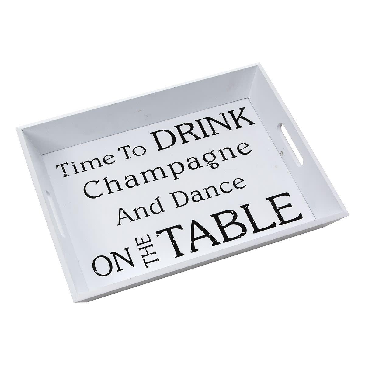 Tablett Champagne ca. B43,5 x T33,5 x H6 cm