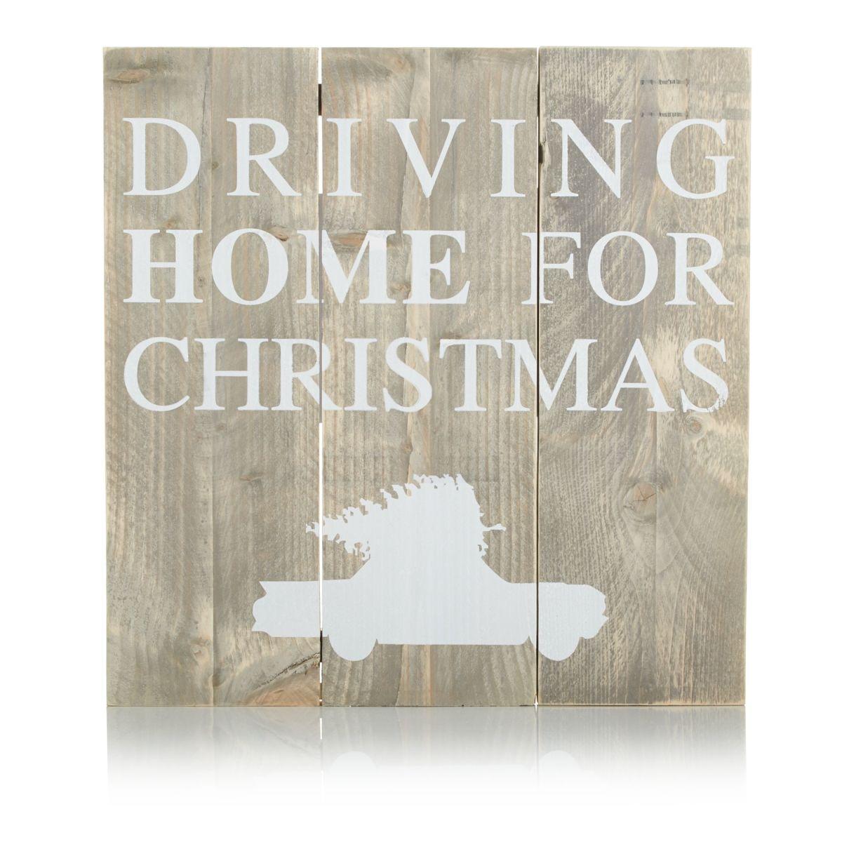 Bild Driving Home for Christmas, Lattenoptik, Kiefer massiv (Impressionen)