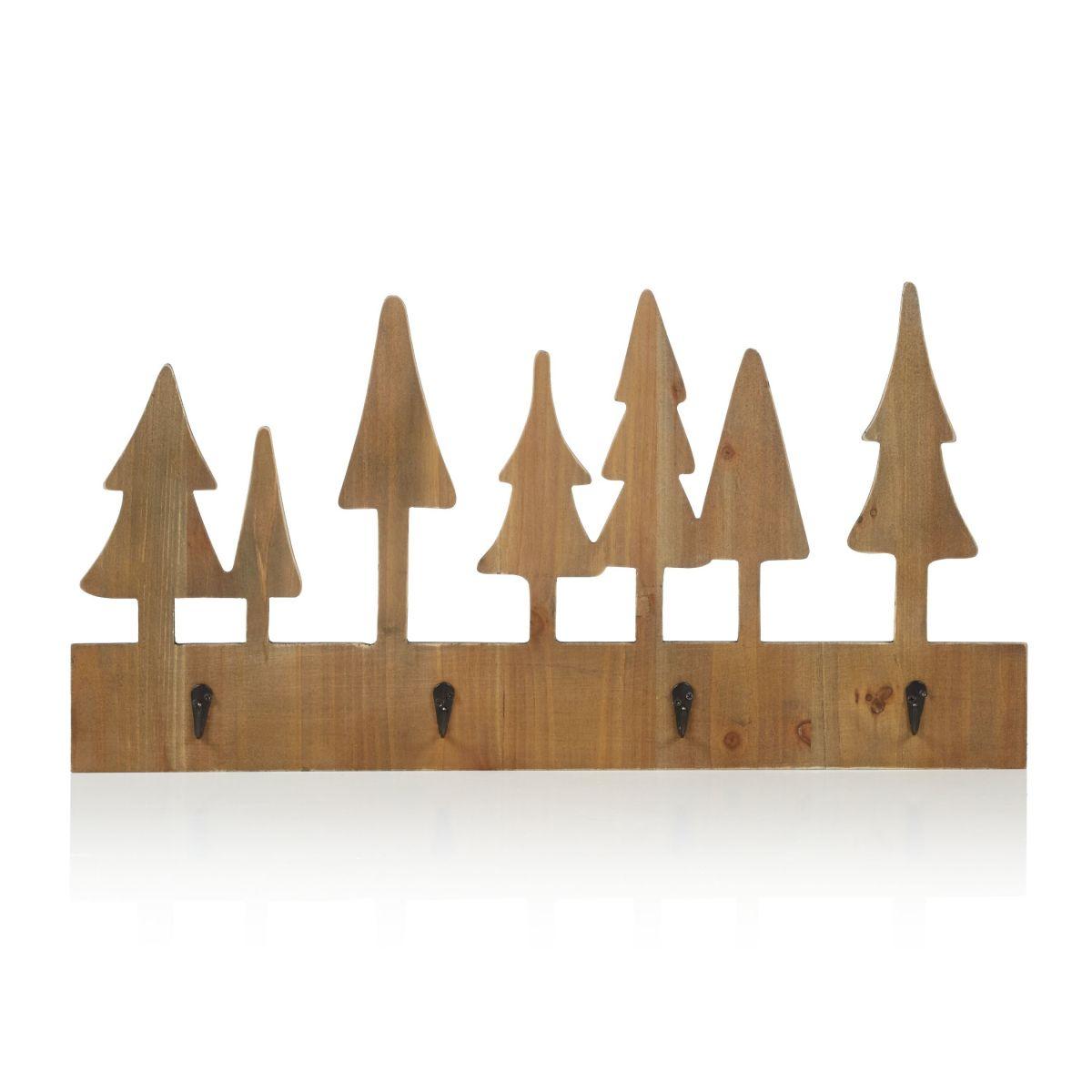 Hakenleiste, Tannenbäume, 4 Haken, Natur Look (Impressionen)