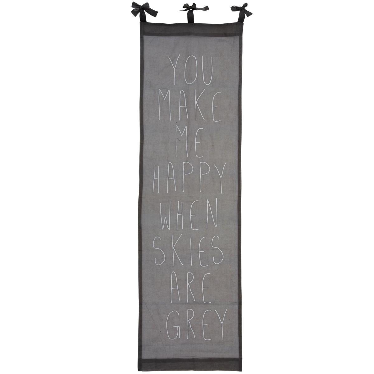 Organdy Vorhang, Statement Print, Baumwolle