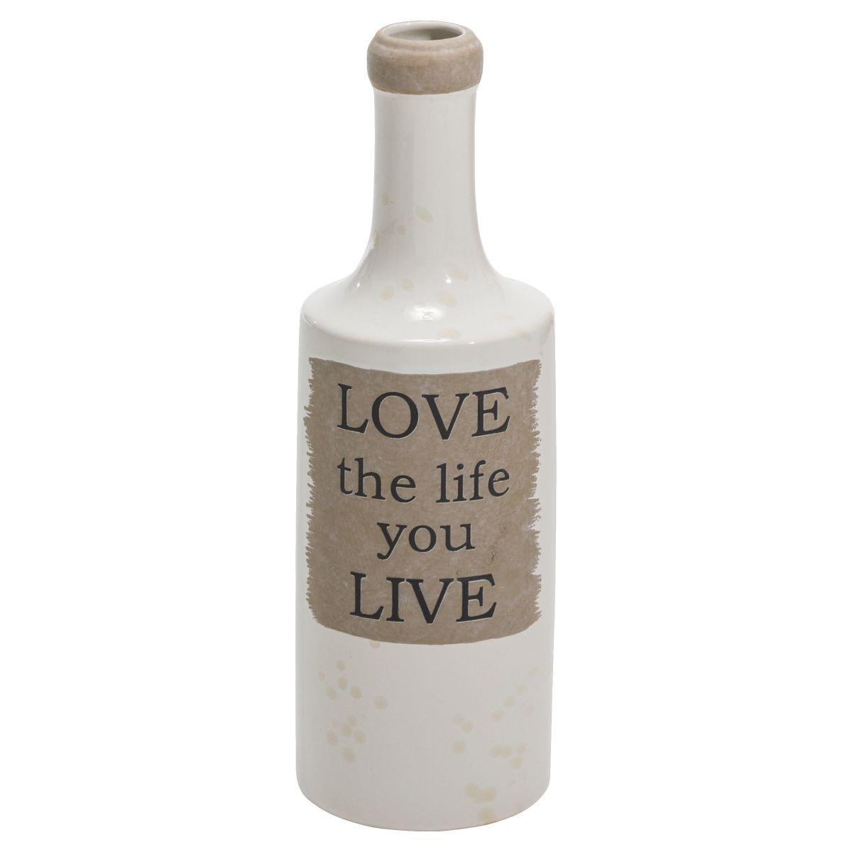 Vase Love, Schriftzug, Keramik