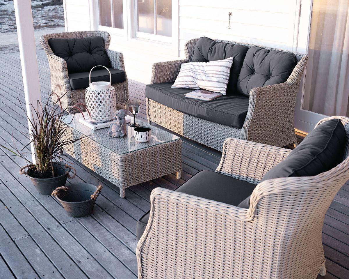 Lounge-Set, incl.Auflagen