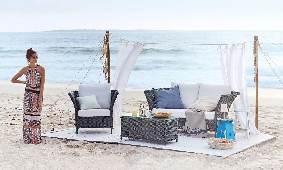 Outdoor-Sessel, Metall/Kunststoffrattan