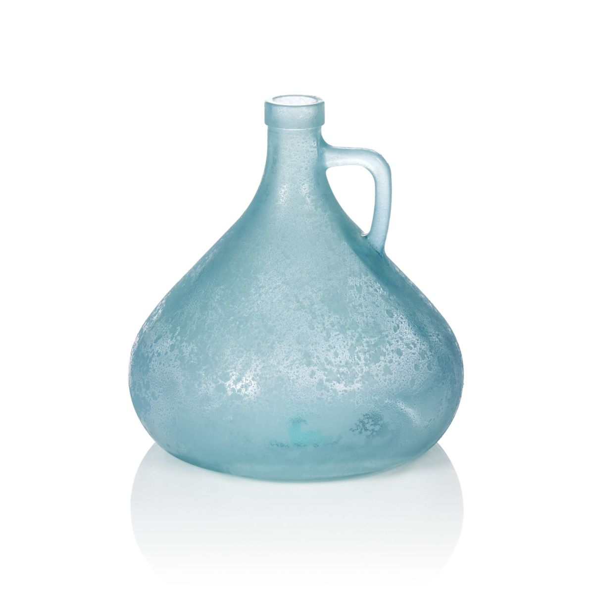 Vase, Gefrostet, Glas