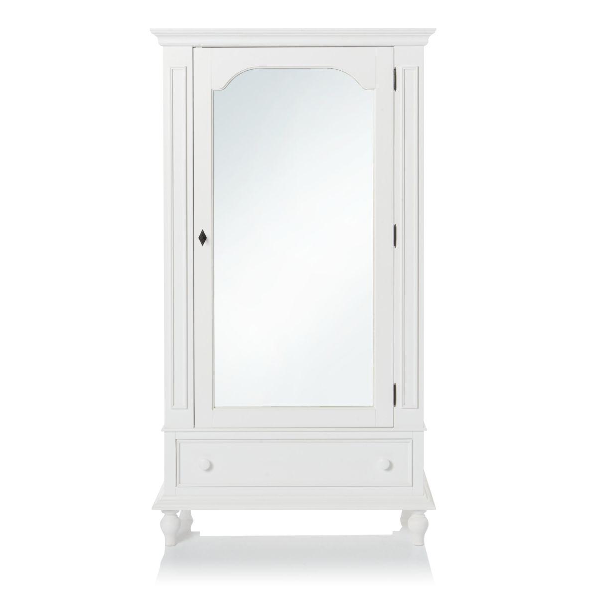 Kleiderschrank, mit Spiegeltür, Landhausstil, Massivholz