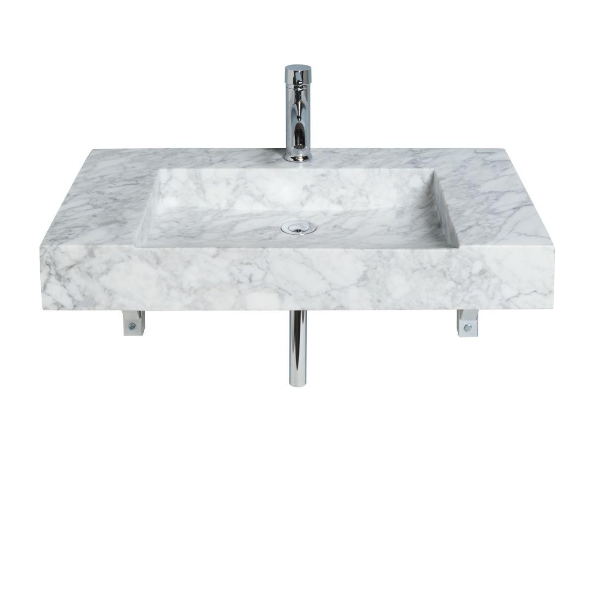 Waschtisch, Marmor, inklusive Wasserhahn und Ablaufgarnitur