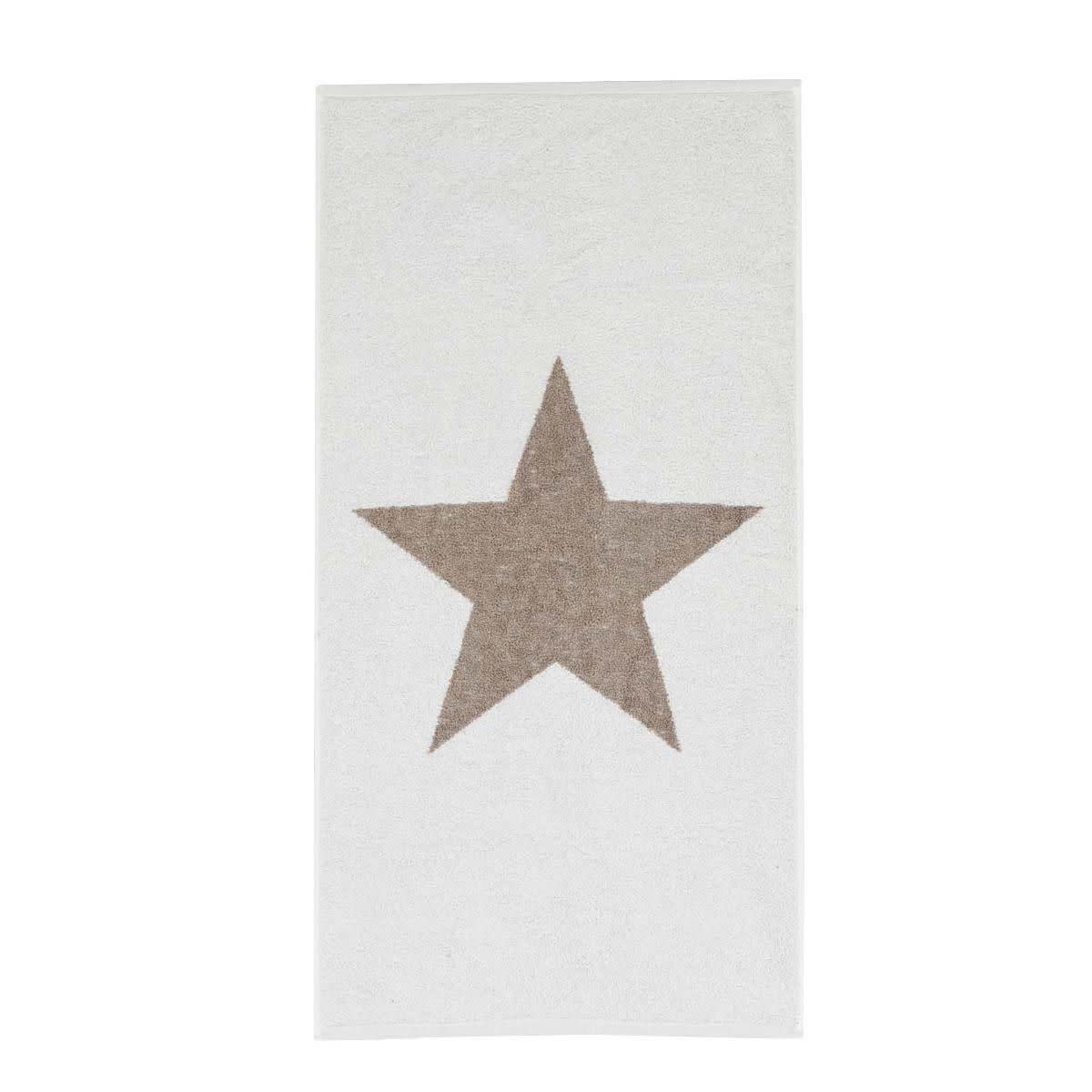 Handtuch mit Sternmotiv, Baumwolle 50x100 cm
