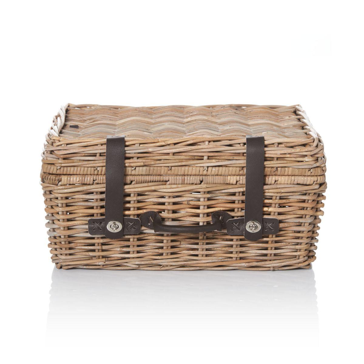 Koffer, klassisch, Rattan