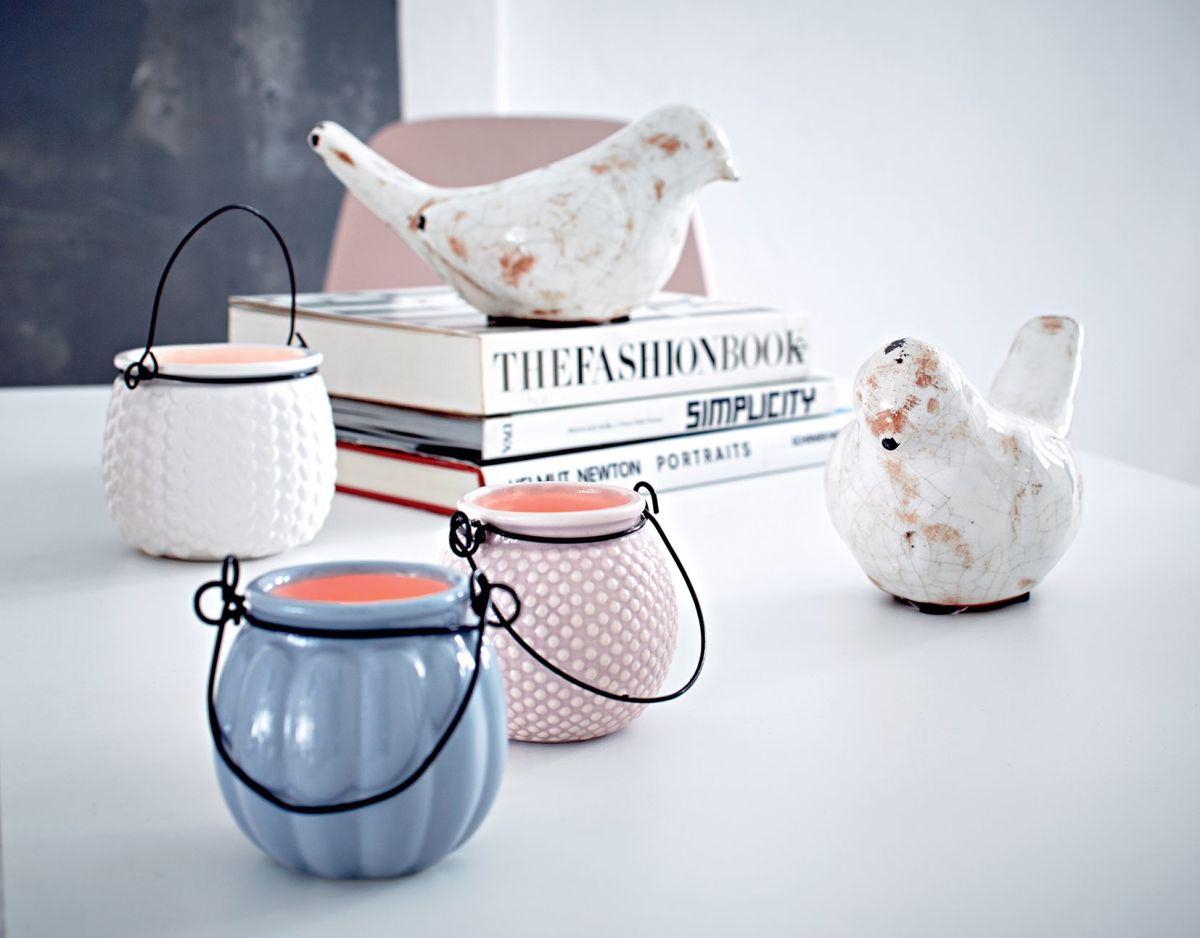 Deko-Vogel, Shabby Chic, Keramik