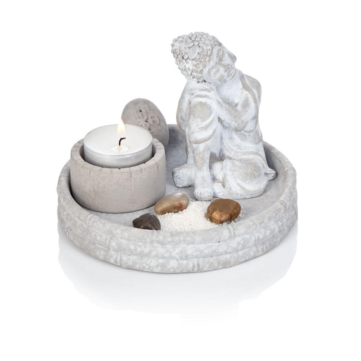 Buddha, Deko-Schale, Asia-Style, Zement