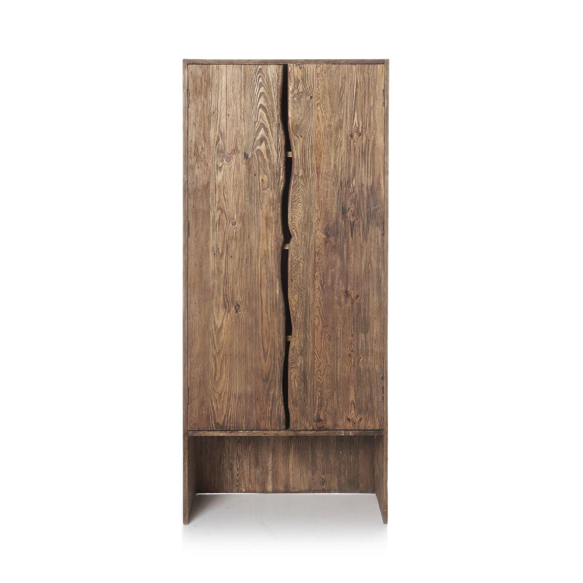 Kleiderschrank, Natur-Look, Recyclingholz