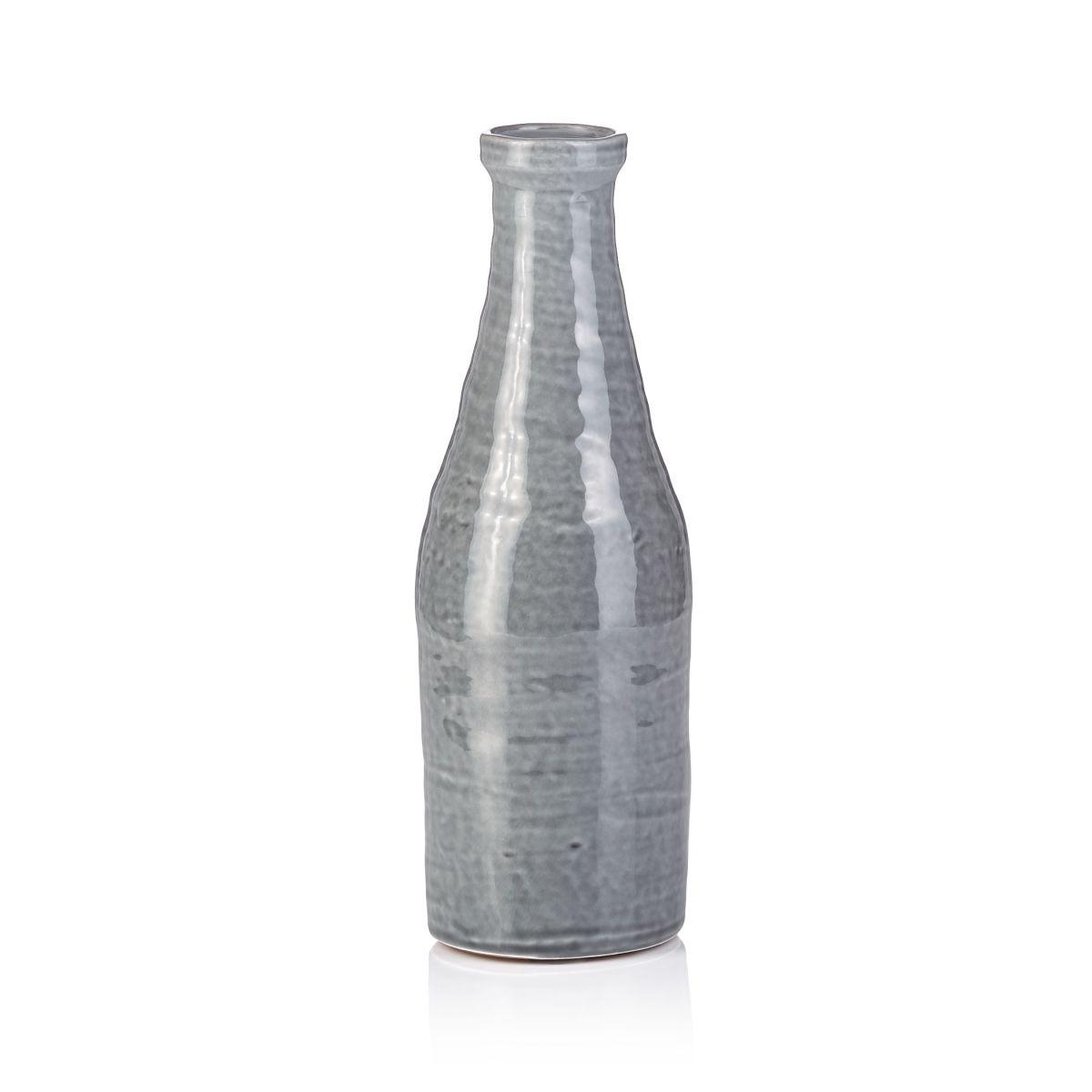 Deko-Karaffe, rustikal, Keramik, glasiert