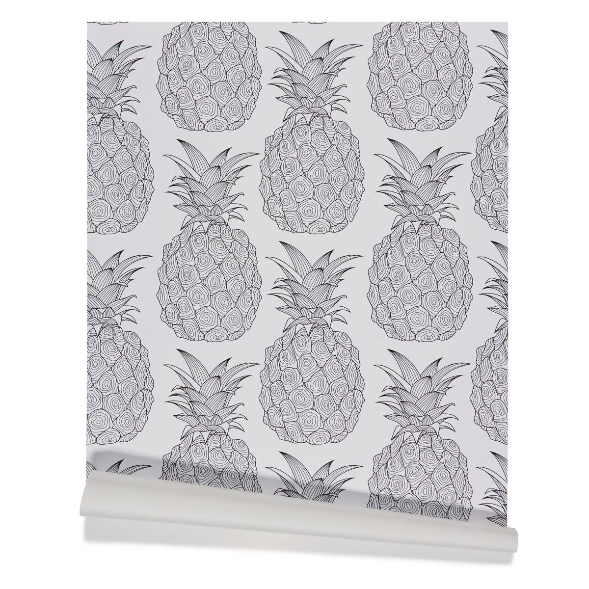 Tapete Ananas, selbstklebend, modern, Vinyl
