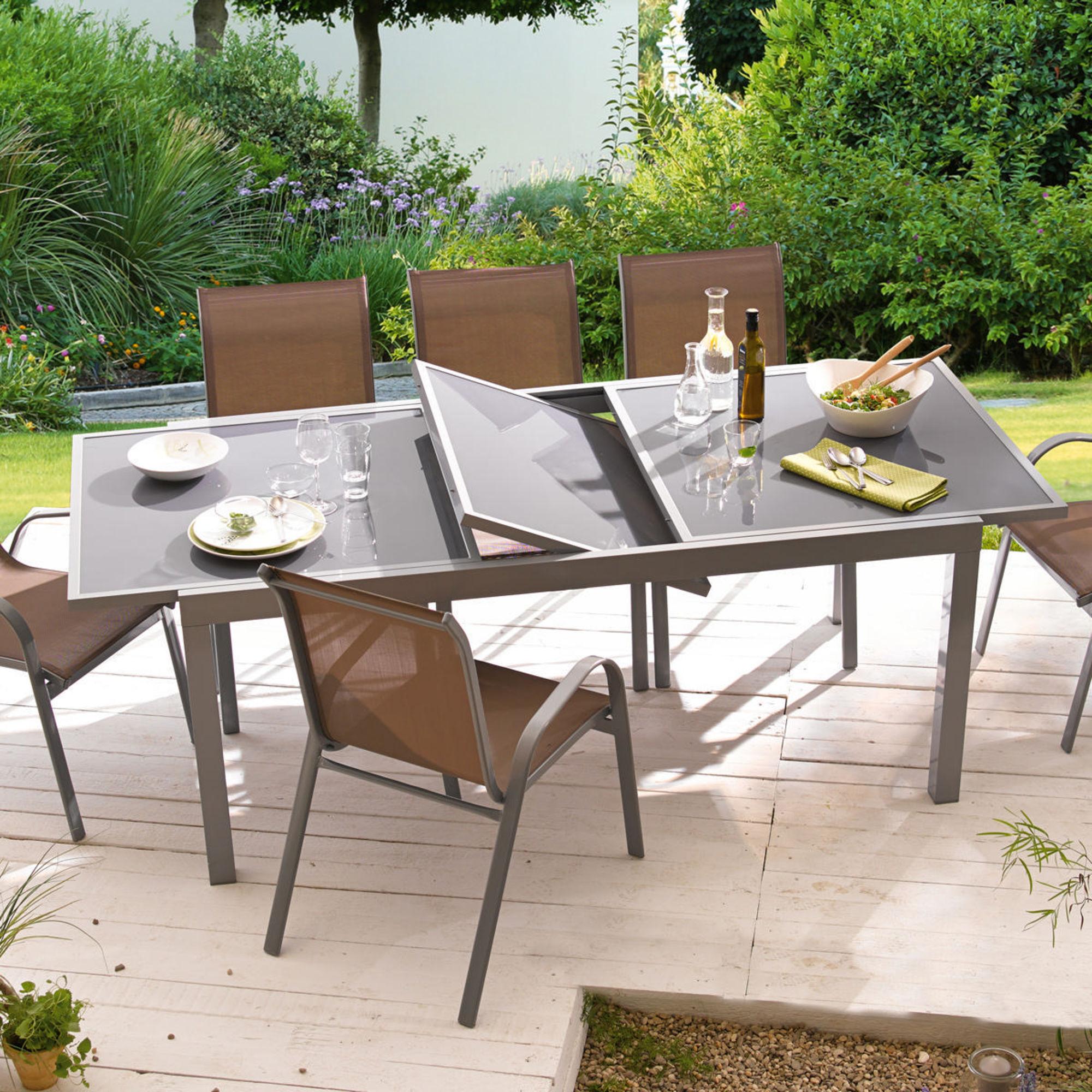 Relativ Gartentisch Futura, ausziehbar, Aluminium OQ52