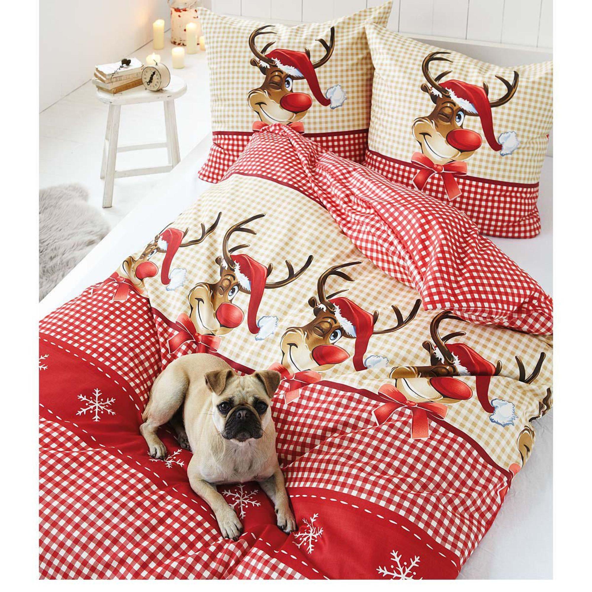 weihnachten bettwsche bettwsche rot schwarz schn. Black Bedroom Furniture Sets. Home Design Ideas