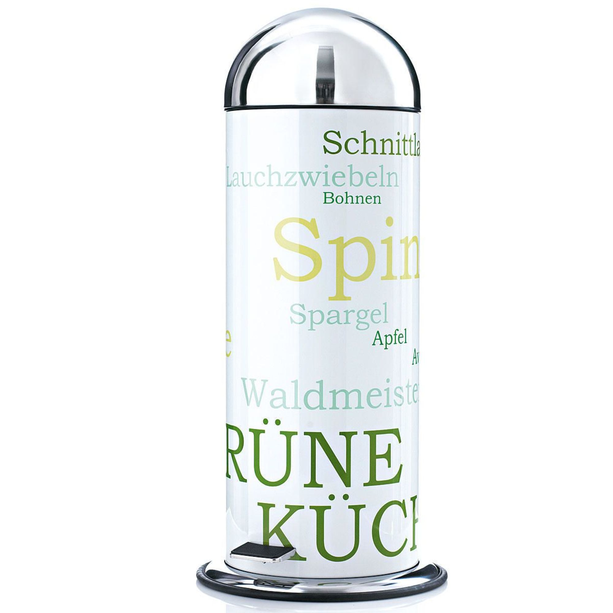 Mülleimer, ca. 20 Liter Fassungsvermögen, Pedal, Edelstahl ...
