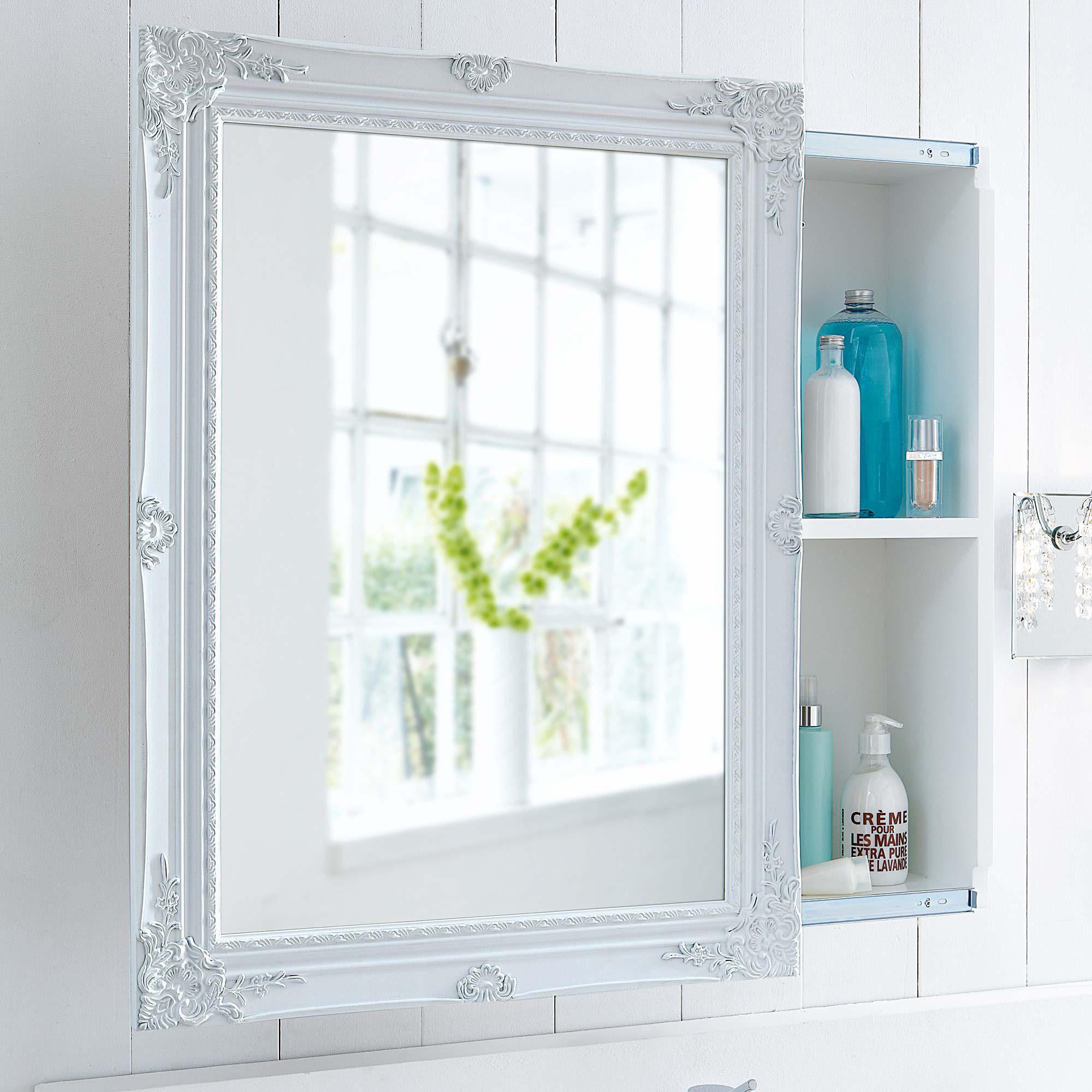 Spiegelschrank bad landhaus  Spiegelschrank, Schiebetür, zwei Innenfächer, Romantik-Look, MDF