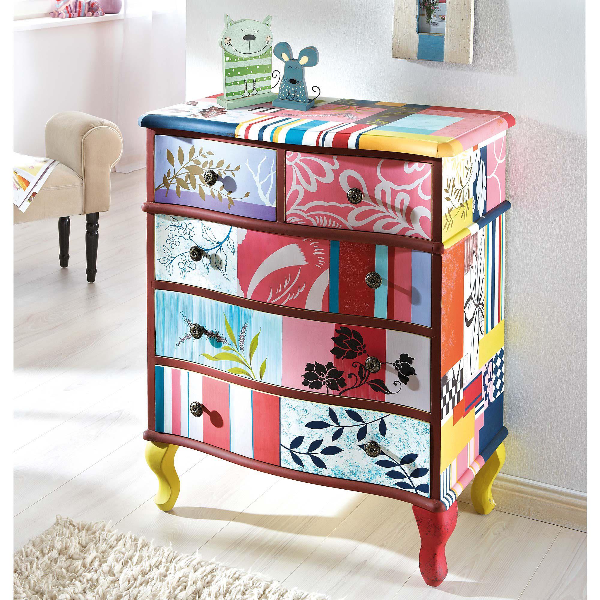 kommode modern bunt kreative ideen ber home design. Black Bedroom Furniture Sets. Home Design Ideas