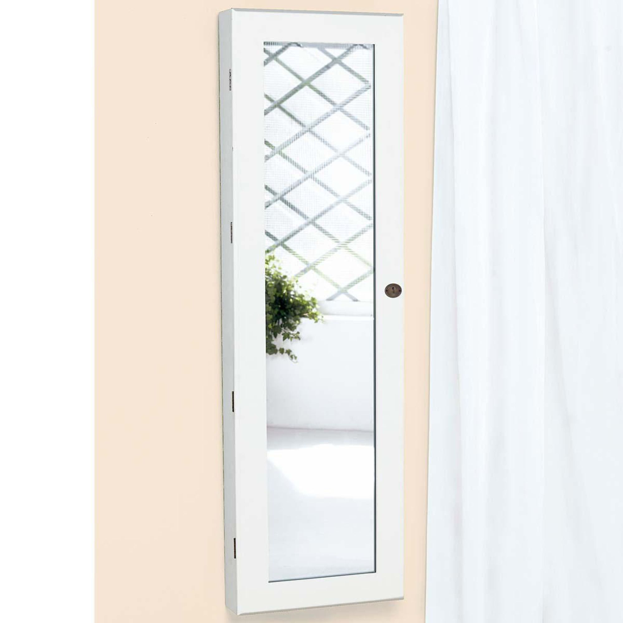 schmuckschrank mit spiegel und led beleuchtung xxl. Black Bedroom Furniture Sets. Home Design Ideas