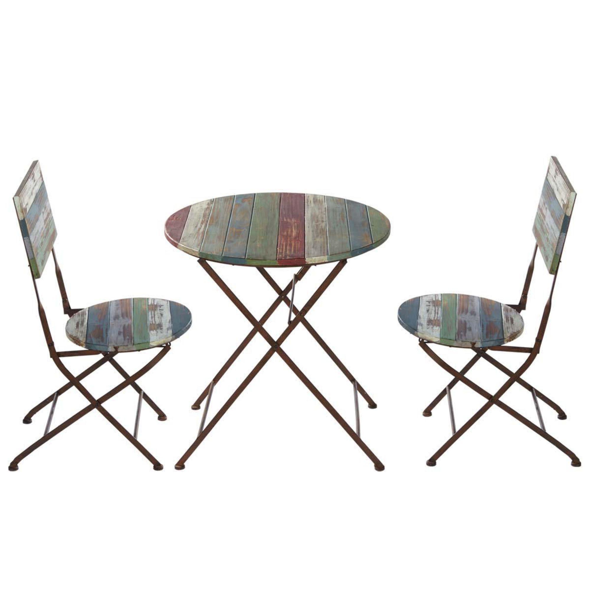 """gartenmöbel-set """"rainbow"""", aus holz und metall, 3-tlg., holz & metall, Garten und Bauen"""