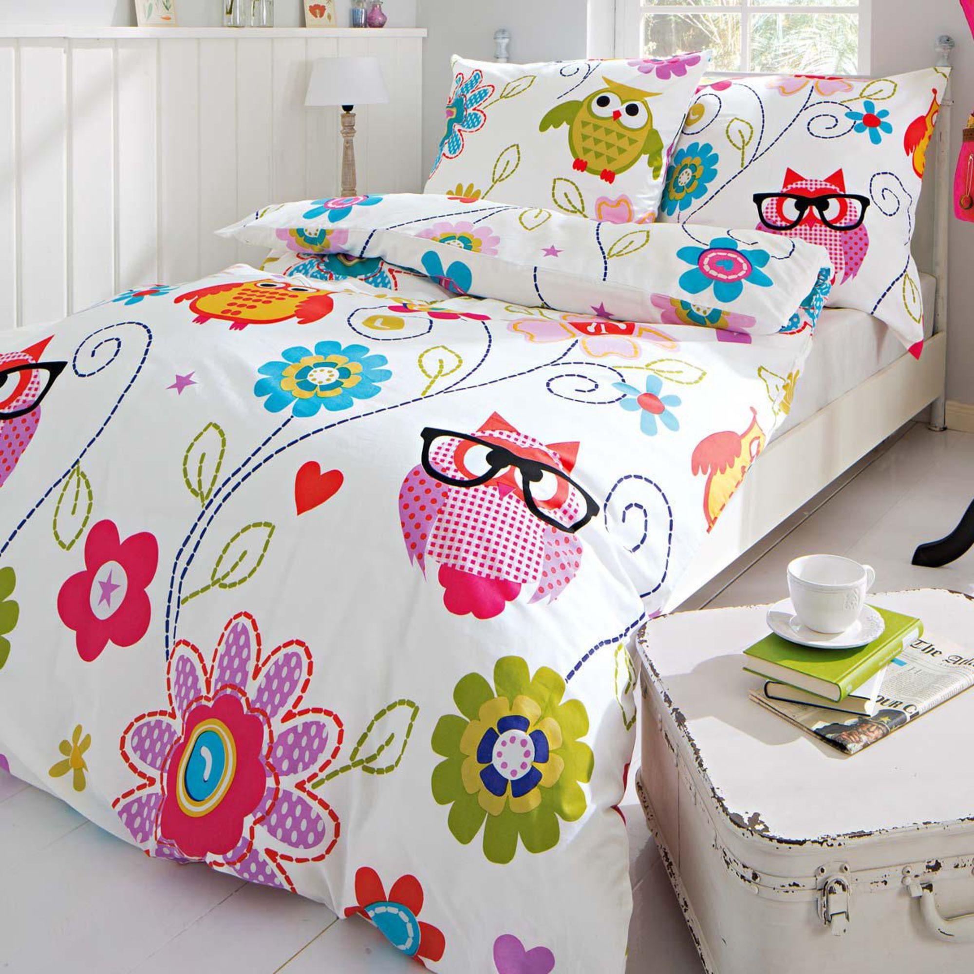 lidl bettw sche eule my blog. Black Bedroom Furniture Sets. Home Design Ideas