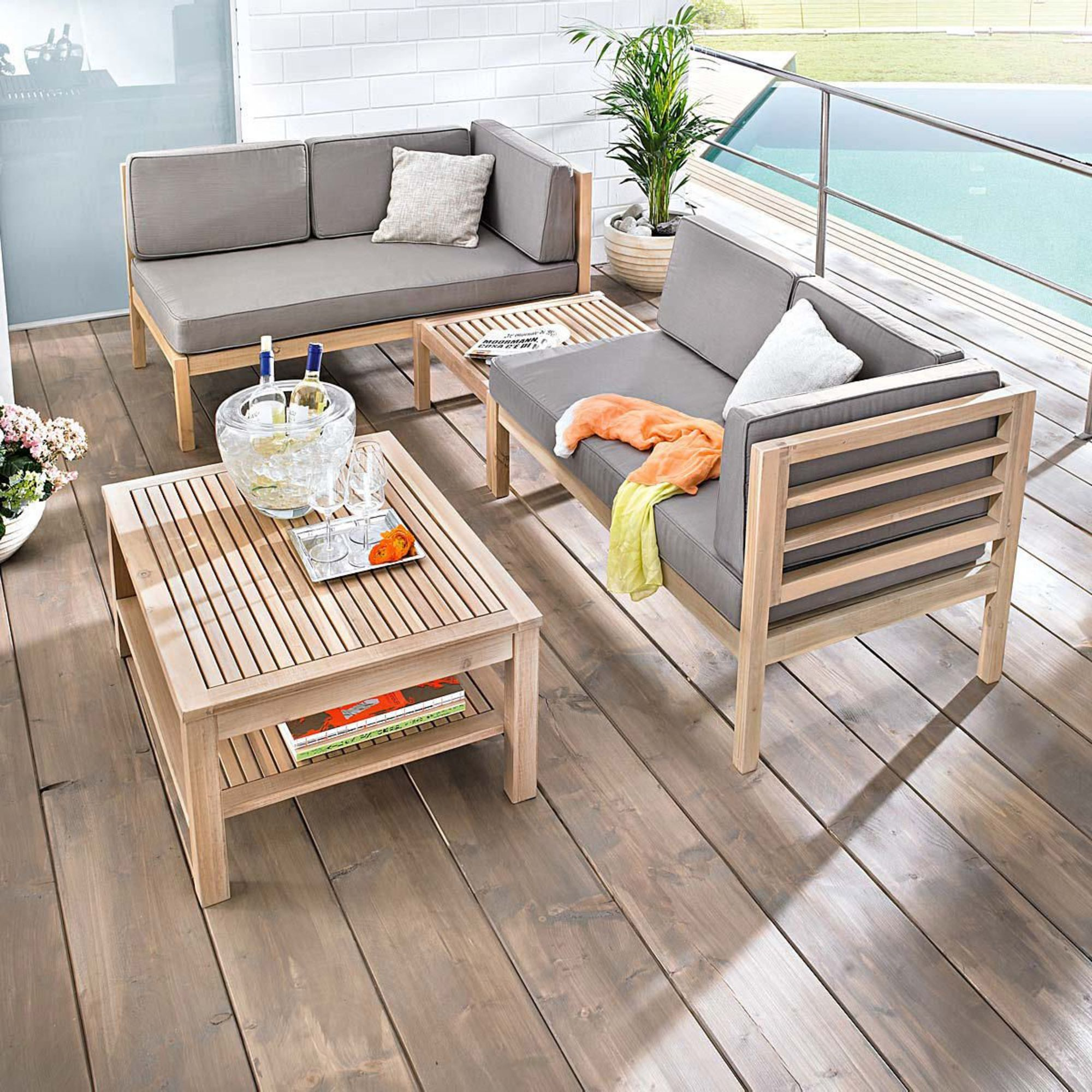 gartenmobel set lounge holz – motelindio, Gartenarbeit ideen