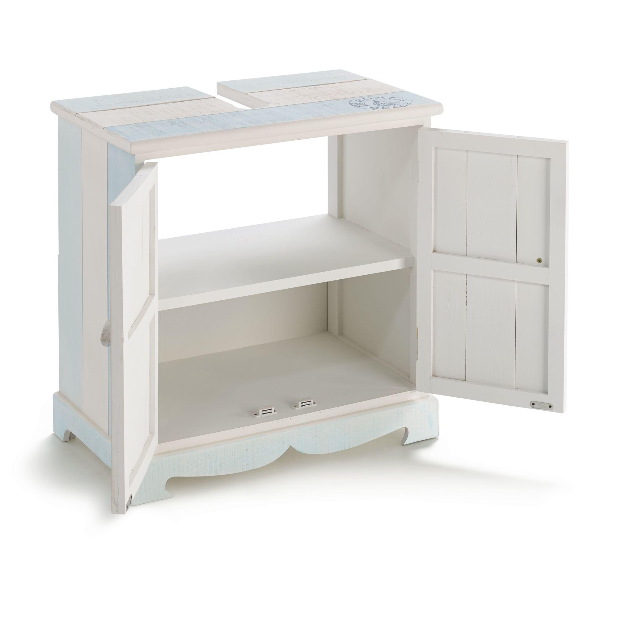 waschbeckenunterschrank hanse blau wei maritim badschrank. Black Bedroom Furniture Sets. Home Design Ideas