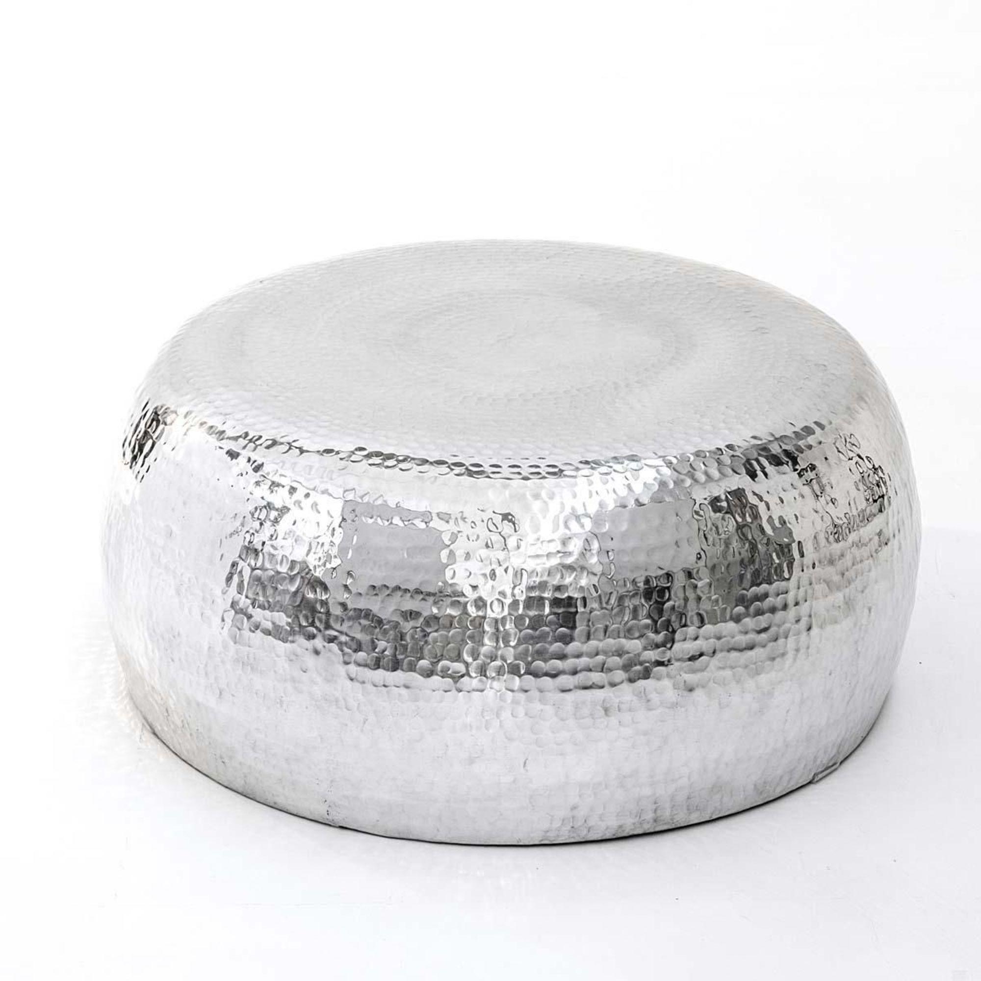 Couchtisch steel aus alu silber metall modern for Wohnzimmertisch silber