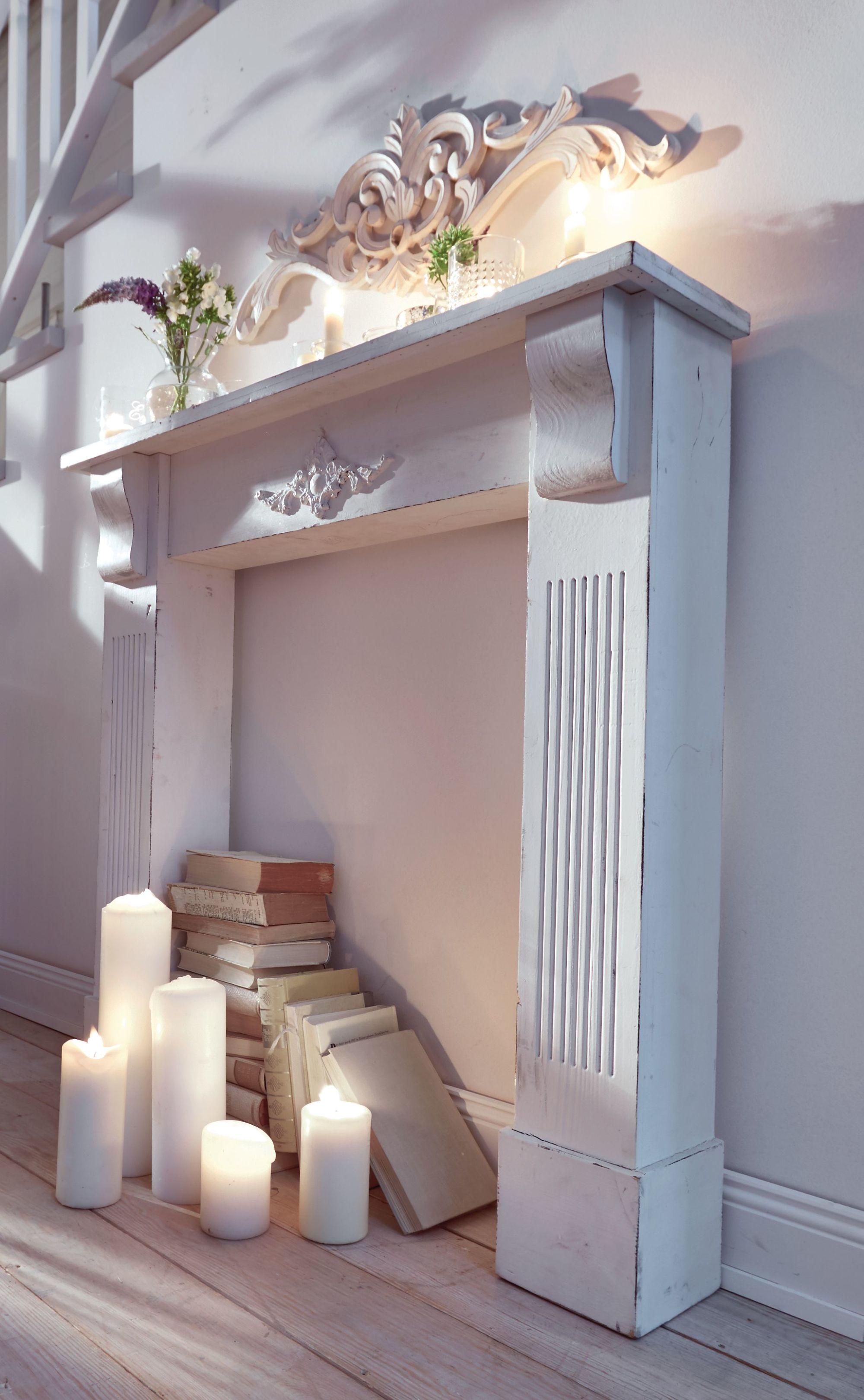 wand deko stuck b80 x t1 5 x h26 cm handgefertigt kaminumrandung wandbeh nge ebay. Black Bedroom Furniture Sets. Home Design Ideas