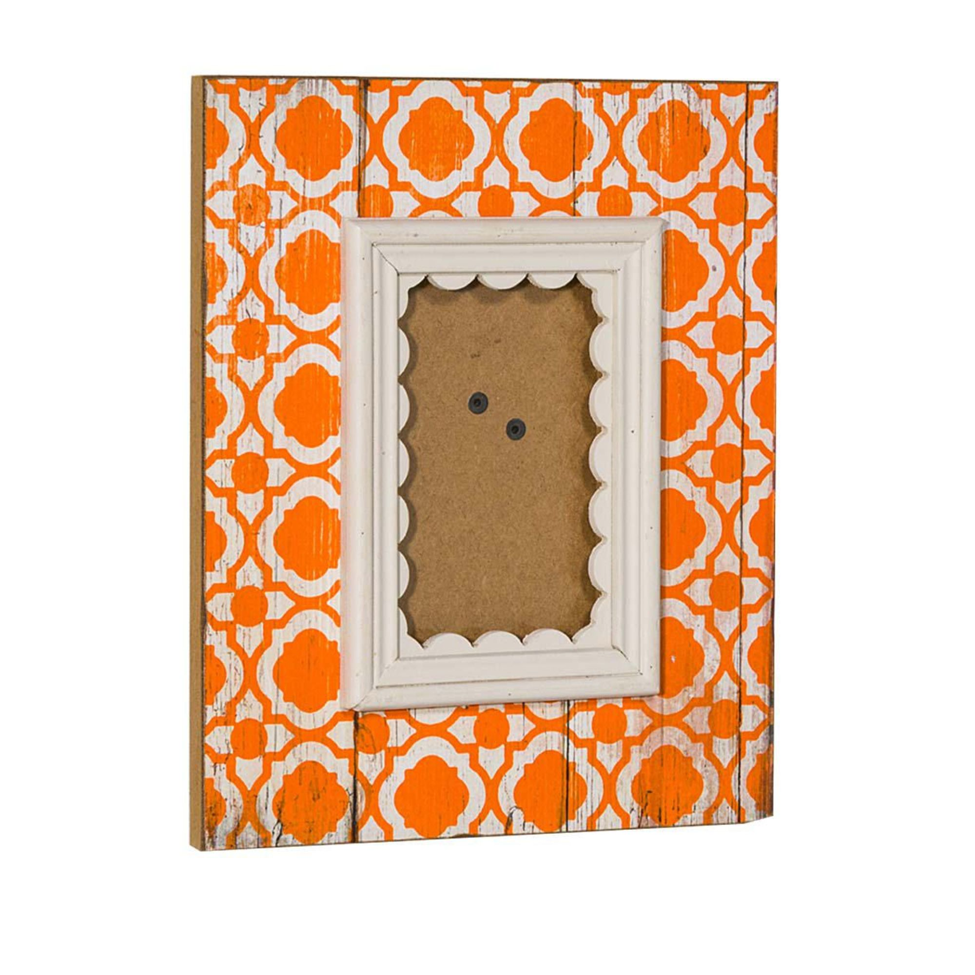 Bilderrahmen Shabby Orange