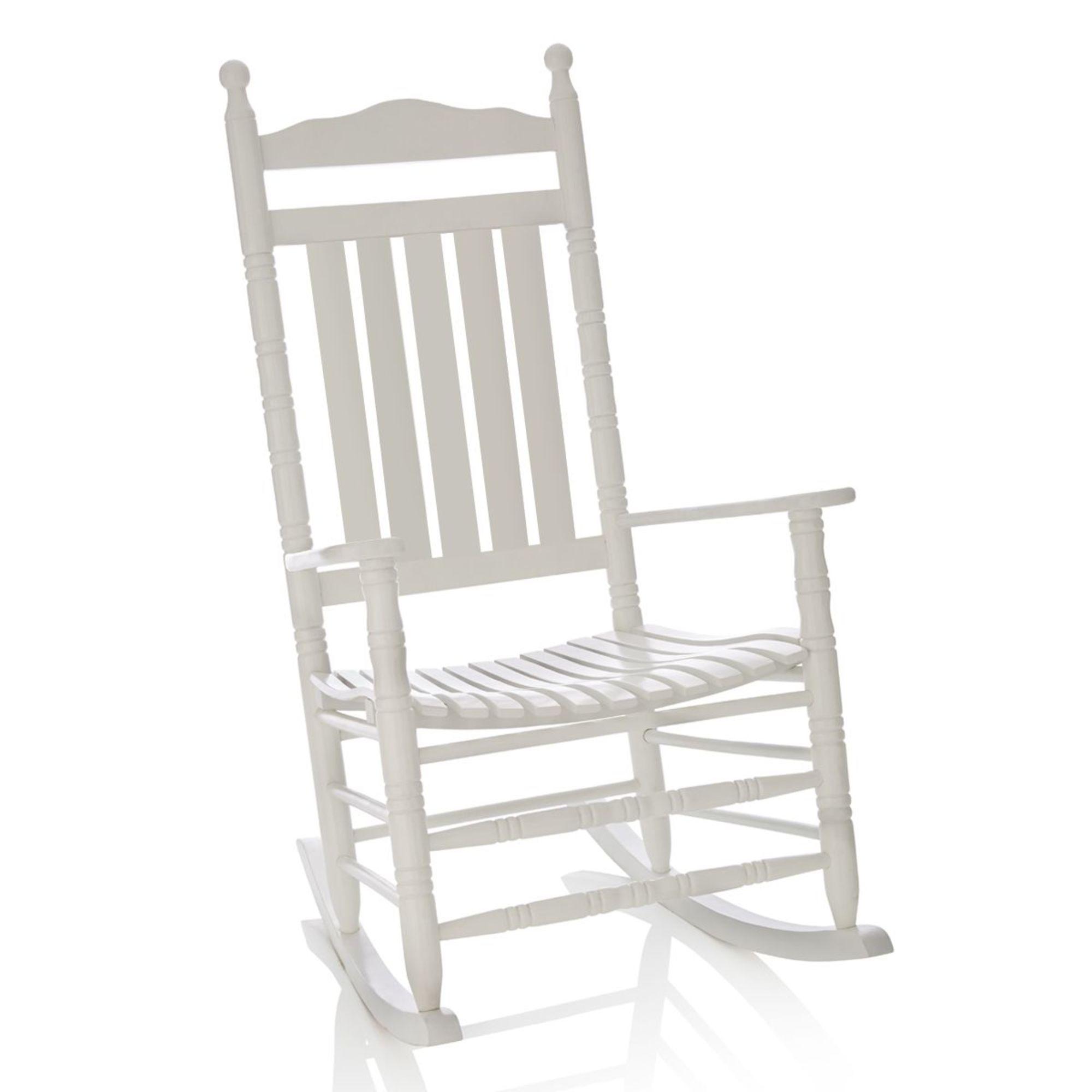schaukelstuhl wei us schauckelstuhl im western stil ebay. Black Bedroom Furniture Sets. Home Design Ideas