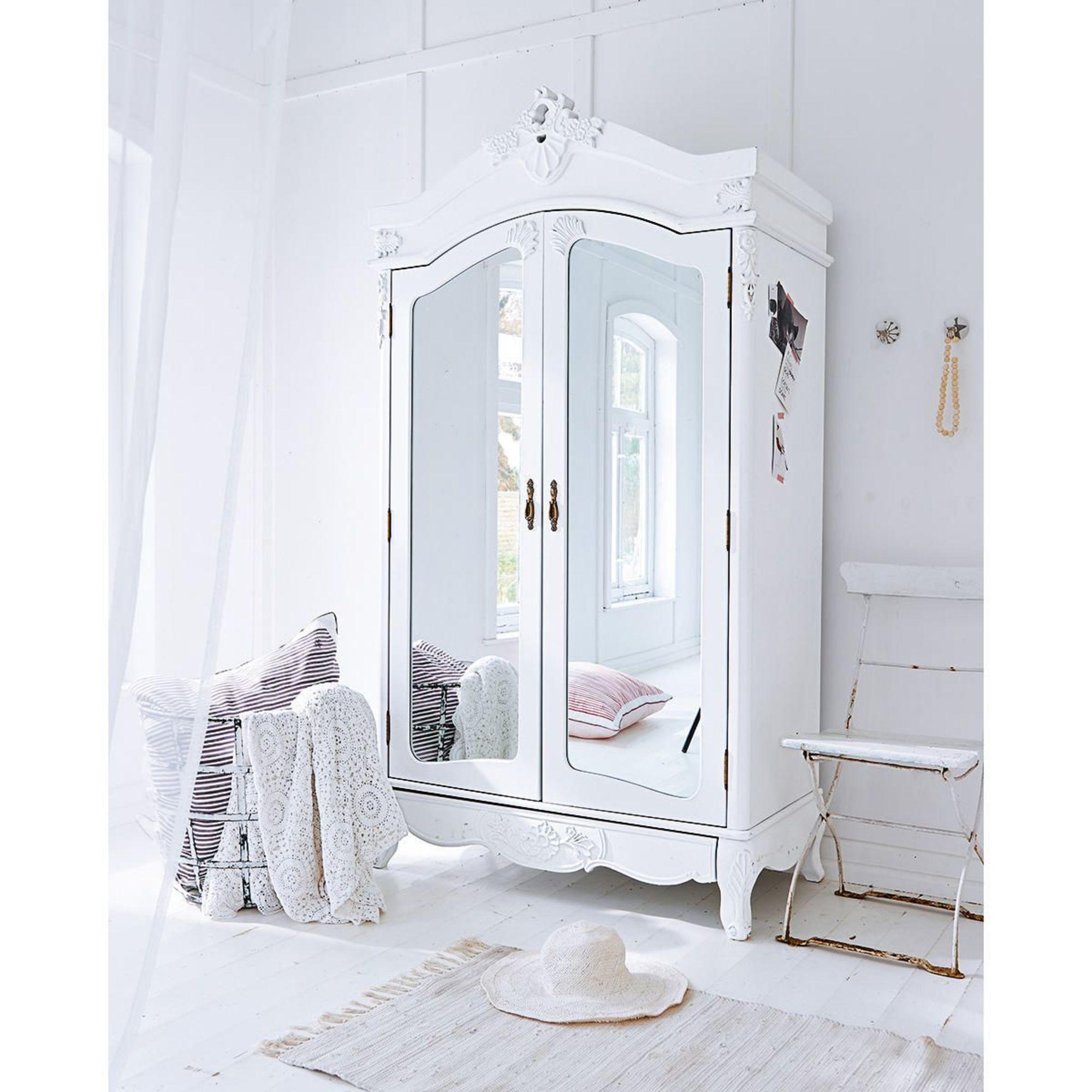 Kleiderschrank Weiß Barock