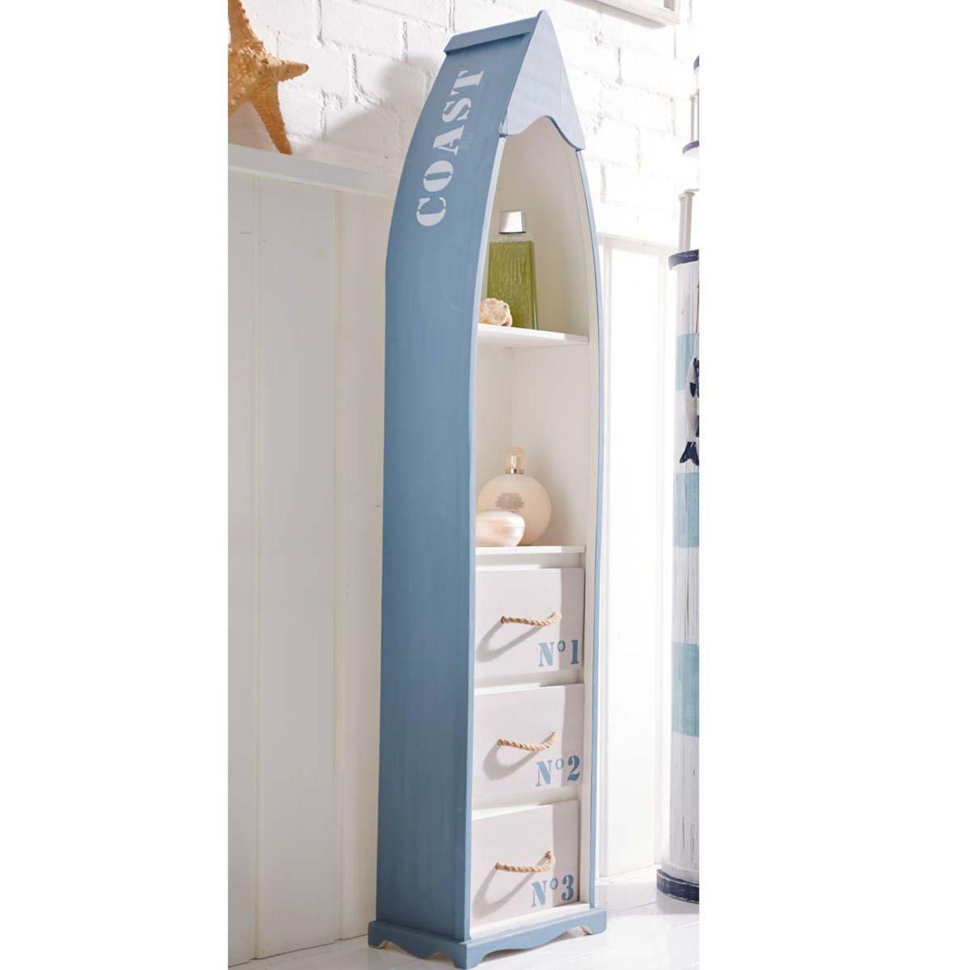 badregal boot blau wei wandregal standregal. Black Bedroom Furniture Sets. Home Design Ideas