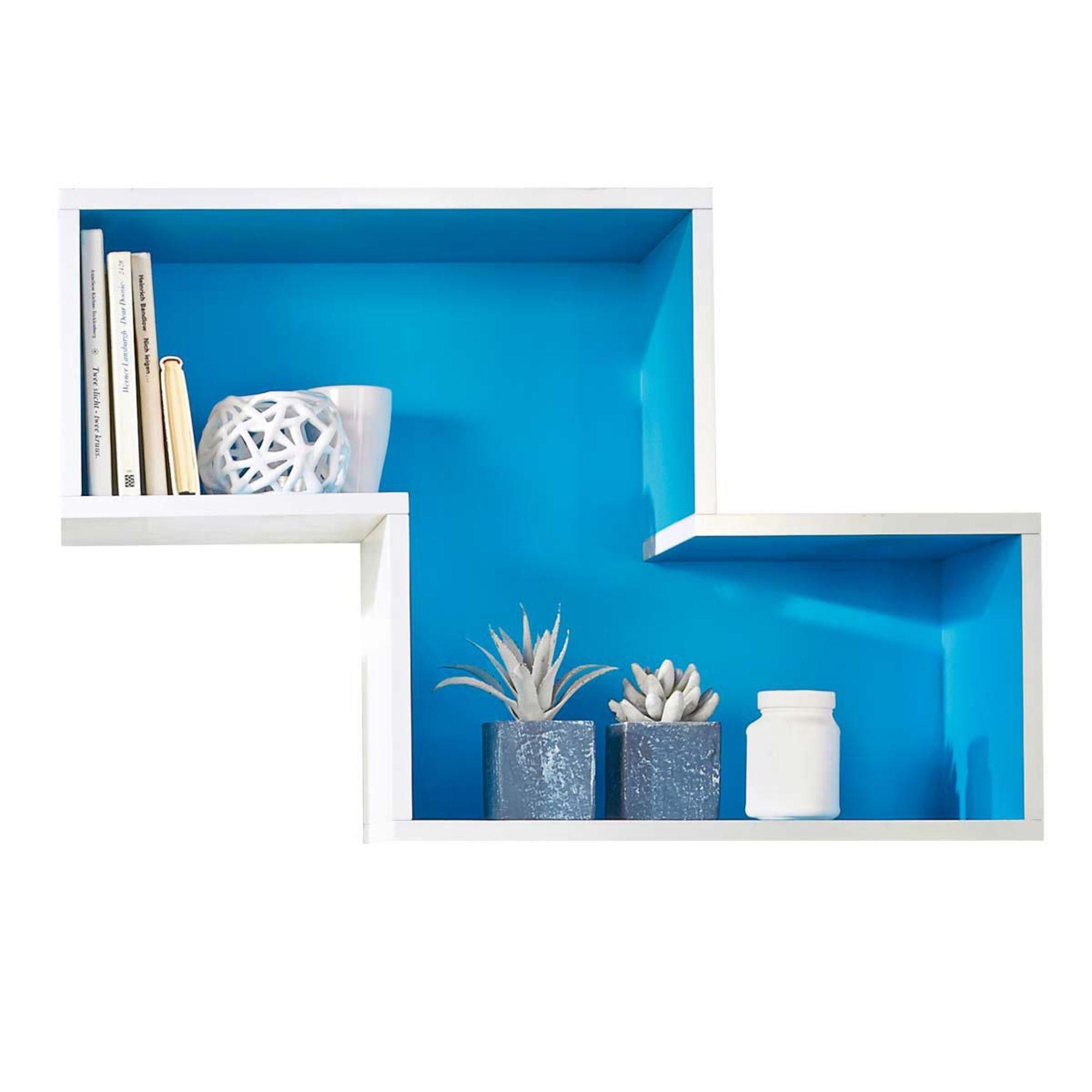 wandregal happy blau wei blau ebay. Black Bedroom Furniture Sets. Home Design Ideas