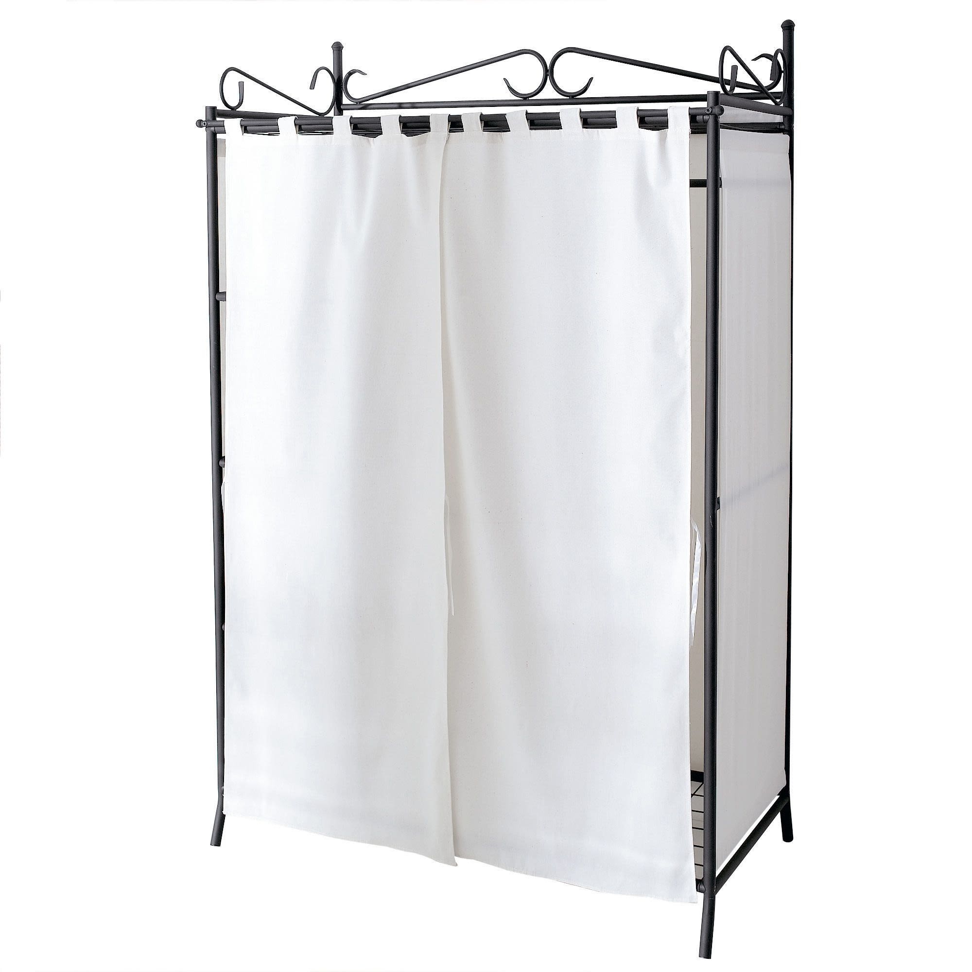 Kleiderschrank Air, inkl. Vorhang, Metall, ca.: H172 cm