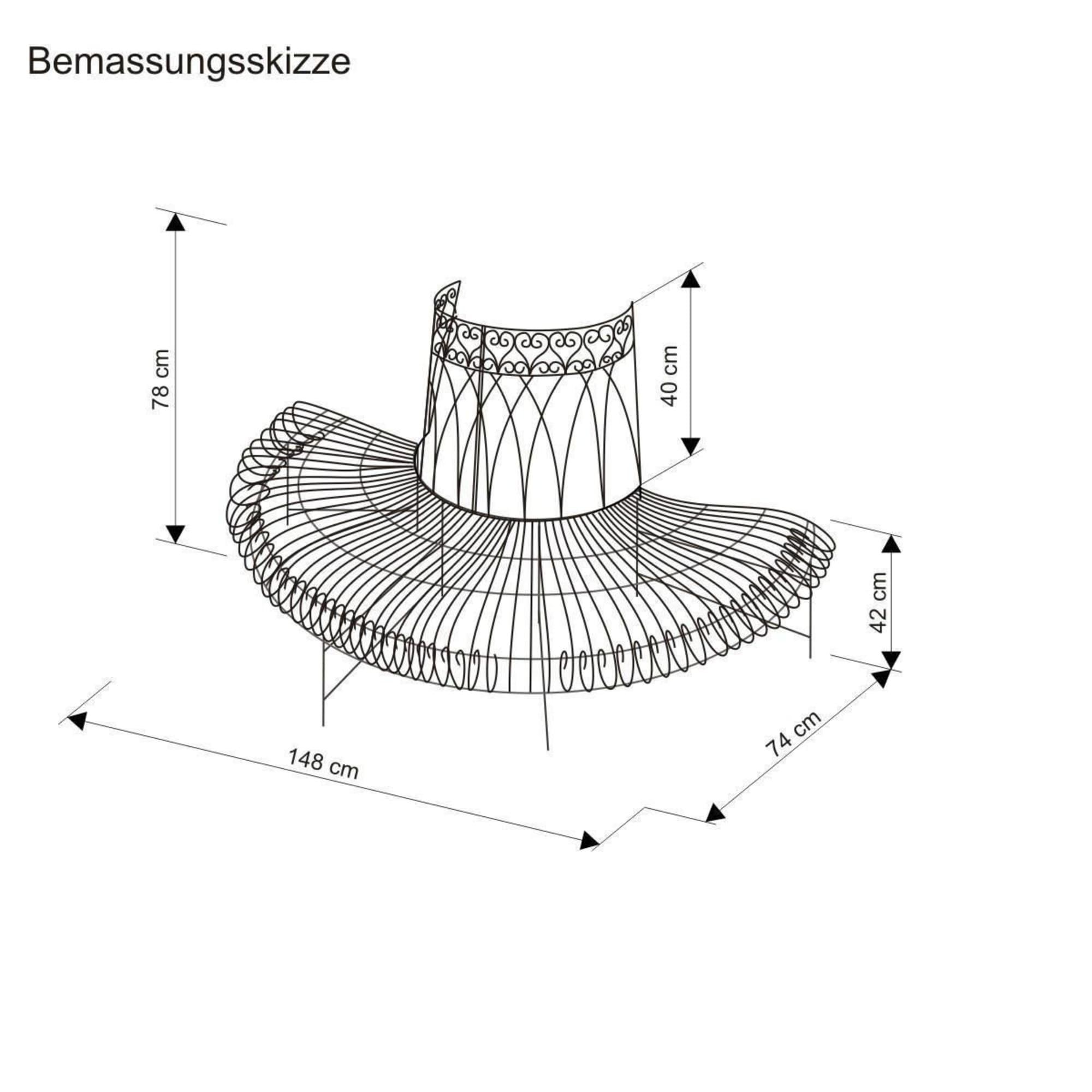 halbe-gartenbank-metall-baum-metall-antik-braun Beste Gartenbank Metall Nostalgie Design-ideen