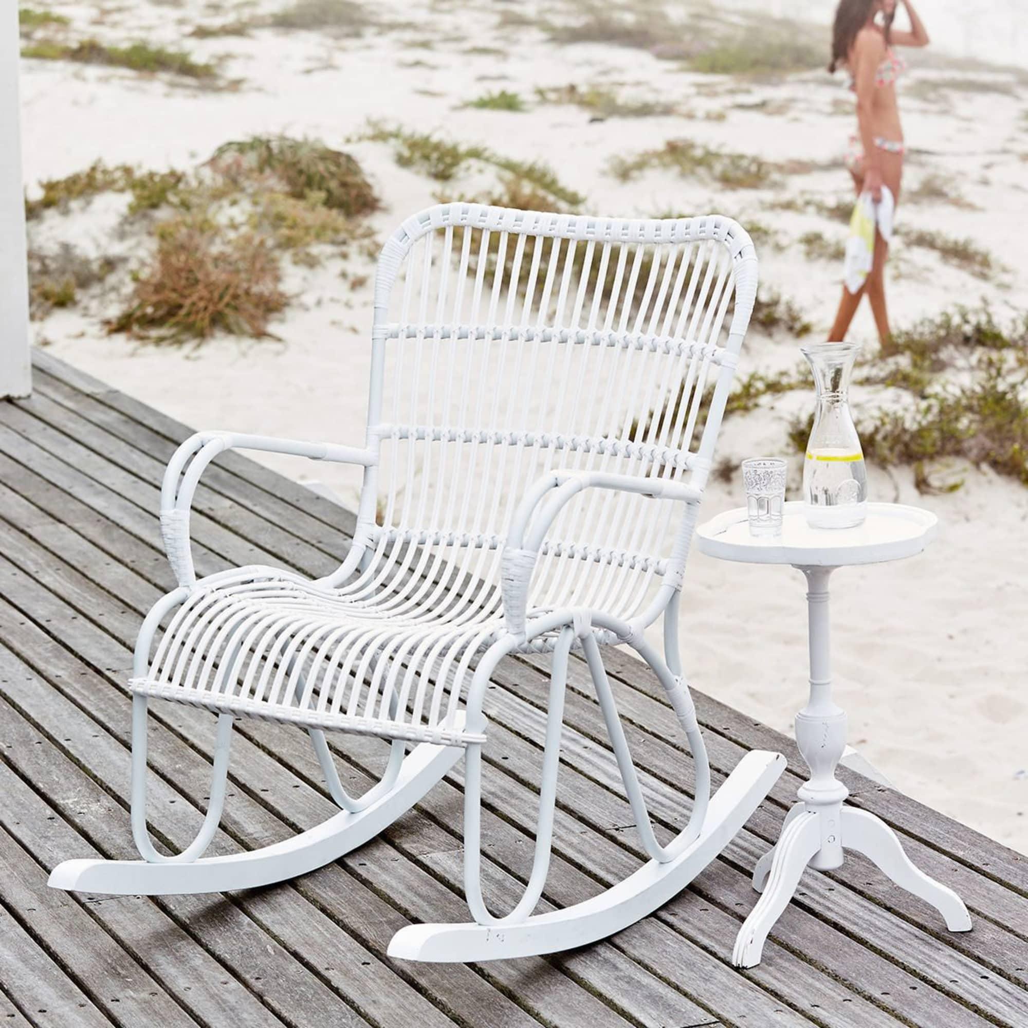 Outdoor Schaukelstuhl outdoor schaukelstuhl shabby chic kunststoffrattan