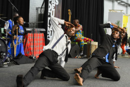 Cultural programme at EDD 2016: 'The Jumping Village' presents the consequences of land grabbing in Africa. The performance is part of the Art against poverty project funded by ACPCultures+. Photo: © European Union