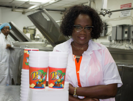 Founder of B's Homemade Ice Cream, Katherine Bethel, has grown her business into a household name in Trinidad & Tobago © Luke Smith