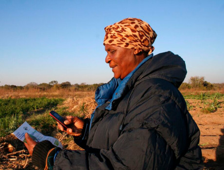 For just €0.89 per month, EcoFarmer offers farmers membership of the Zimbabwe Farmers' Union, crop or livestock farming tips, weather indexed crop insurance and funeral insurance cover © Busani Bafana