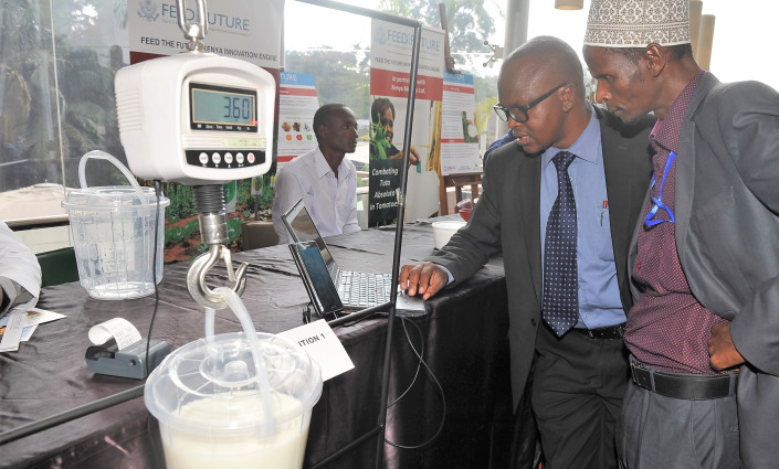 New innovations are enabling Kenyan dairy farmers to receive better value for their milk © USAID/Feed the Future Kenya Innovation Engine