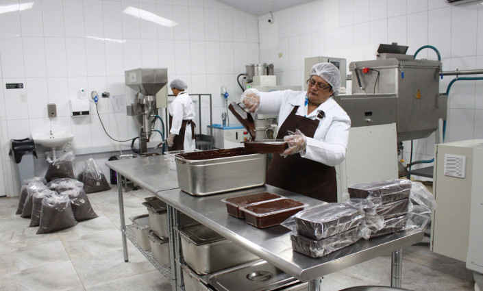 TTFCC's processing factory in Trinidad produces up to 100 t of cocoa products per year © Trinidad & Tobago Fine Cocoa Company
