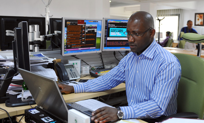 Un négociateur de la African Development Bank @ FETHI BELAID/AFP/Getty Images
