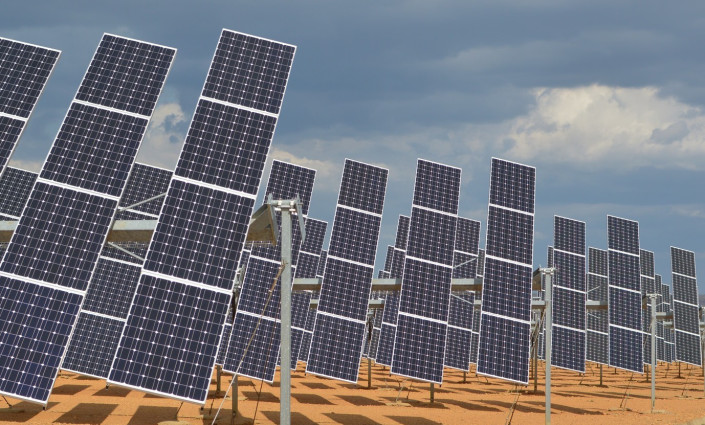 Solar panels have become more affordable in the last decade. © James Moran, CC BY-NC 2.0, via IFPRI Flickr