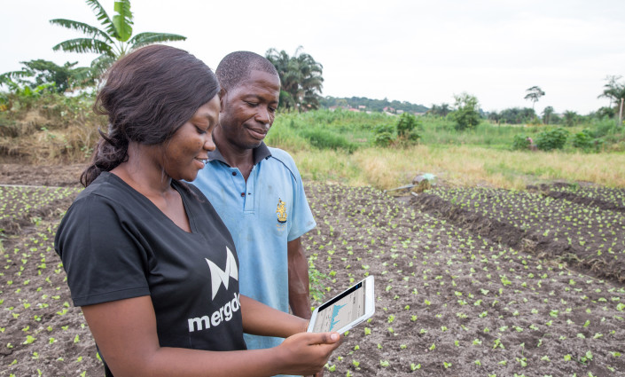 The gathering of farmer- and field-based data is enabling providers to deliver tailored and timely services to smallholders © King Baudouin African Development Prize