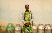 This smallholder farmer's children drink milk every morning before school. © Land O'Lakes International Development