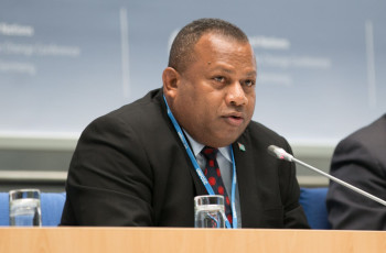 Inia Seruiratu, Fiji's High Level Climate Champion, explains how he intends to provide a stronger platform for all stakeholders to accelerate climate action © Fiji COP23 Secretariat